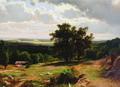 Вид в окрестностях Дюссельдорфа - 1864 год