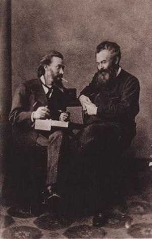 К.А. Савицкий и И.И. Шишкин