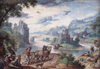 Пейзаж с падением Икара (Ханс Бойл)