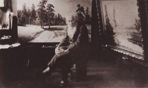 И.И. Шишкин в мастерской