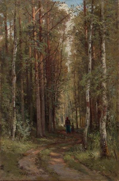Лесной пейзаж 1874