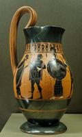 Амасис. Ольпа. Аттическая чернофигурная вазопись. 550—530 гг. до н. э. Париж, Лувр