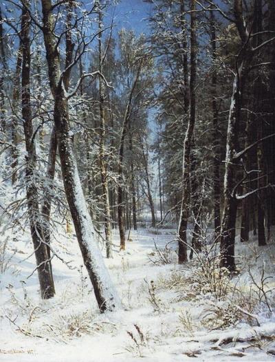 Зима в лесу (Иней) 1877