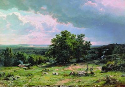 Вид в окрестностях Дюссельдорфа 1865