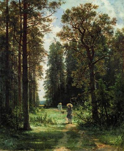 Дорожка в лесу 1880