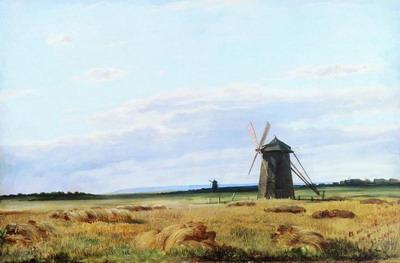 Мельница в поле. 1861