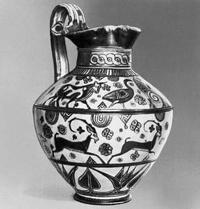 Родосская ойнохоя коврового стиля (650-625 до н.э. Музей изящных искусств. Бостон)