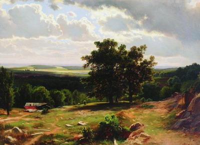 Вид в окрестностях Дюссельдорфа 1864