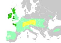 Гальштатская культура на карте Европы