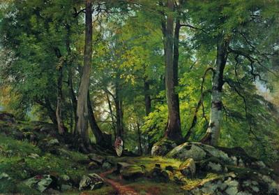 Буковый лес в Швейцарии 1864