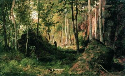 Пейзаж с охотником. Остров Валаам 1867