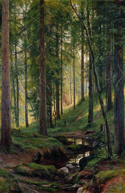 Ручей в лесу (На косогоре) 1880