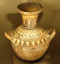 Гидрия в стиле геометрики. 750—700 гг. до н.э.