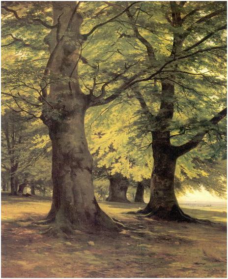 Тевтобургский лес . Фрагмент.