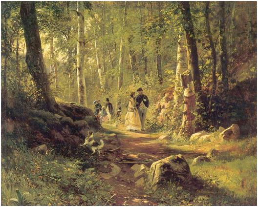 Прогулка в лесу. 1869.