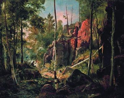 Вид на острове Валааме (Местность Кукко) 1859