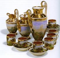 Кофейный сервиз, завод Гарднера, первая половина XIX-го века