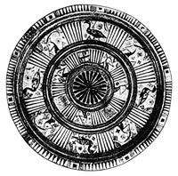 Блюдо с триглифо-метопной росписью (Родос, Греция. Конец VII в. до н.э. Лейпциг, музей Грасси)