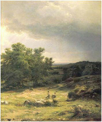 Вид в окрестностях Дюссельдорфа. Правый фрагмент.