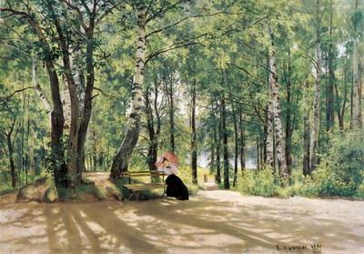 На даче (Около дачи). 1894