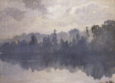 Крестовский остров в тумане 1888
