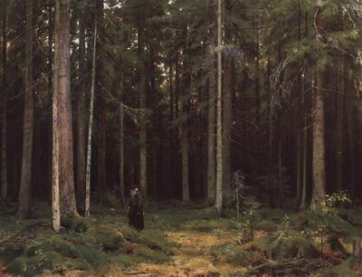В лесу графини Мордвиновой. Петергоф 1891