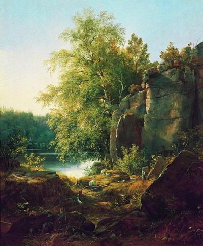 Вид на острове Валааме 1858