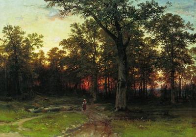 Лес вечером 1868