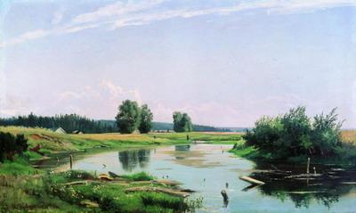 Пейзаж с озером 1886