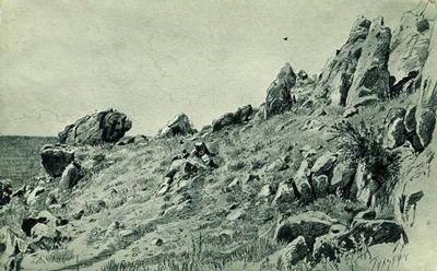 Скалы на берегу моря. Гурзуф 1879