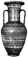 Амфора из Аттики. Ок. 750 г. Мюнхен. Античные собрания